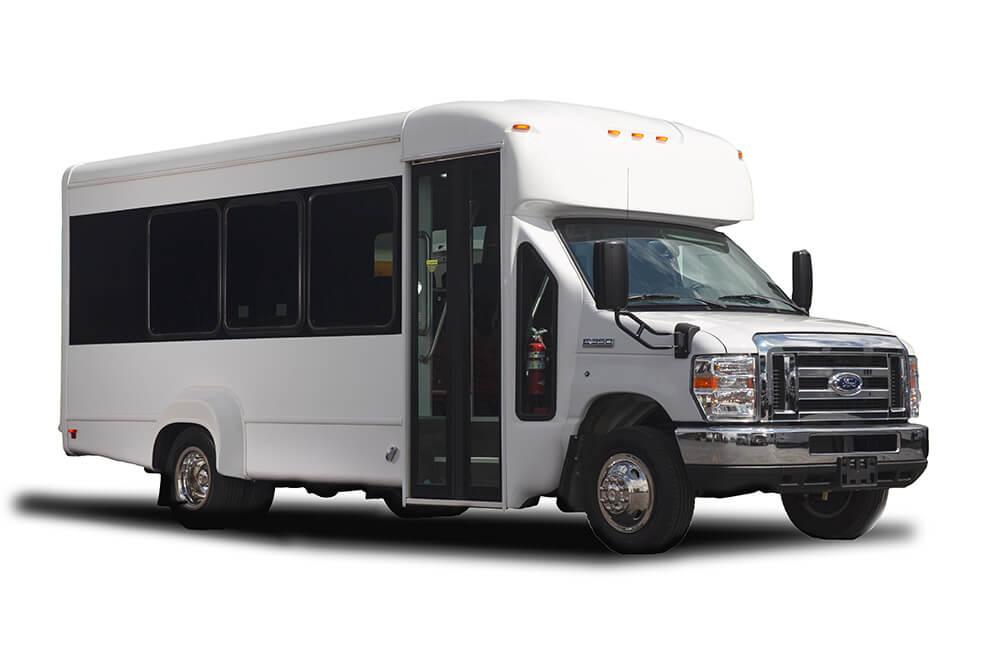 15 passenger shuttle bus exterior