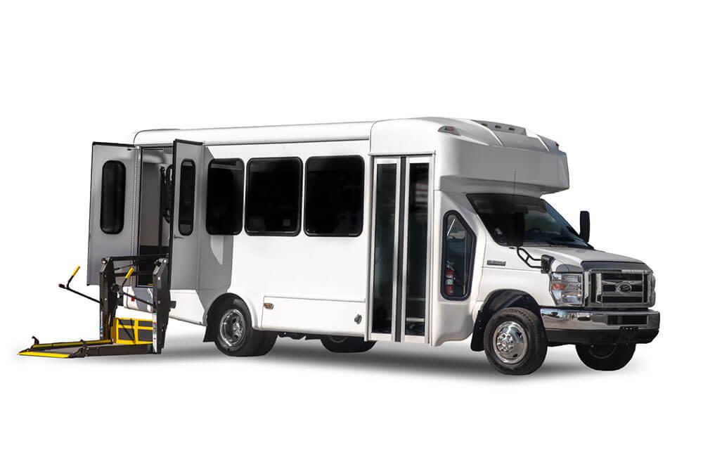 12 passenger bus rental exterior