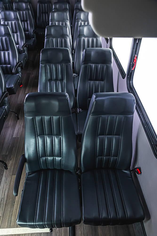 25 passenger minibus interior