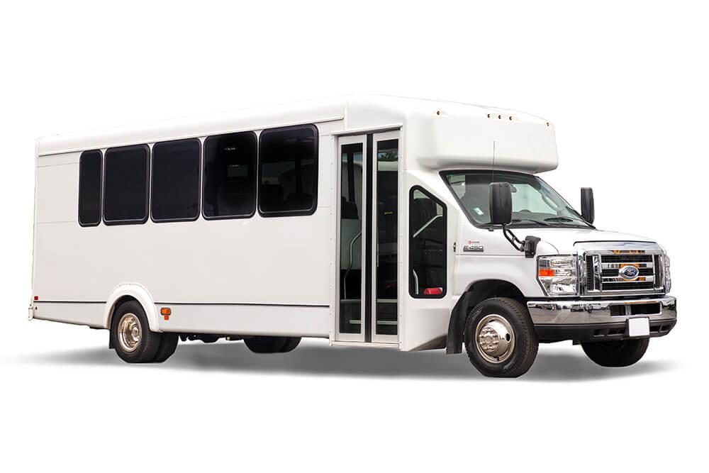 25 passenger minibus rental exterior