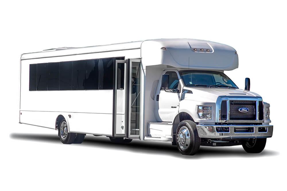 35 passenger shuttle bus exterior