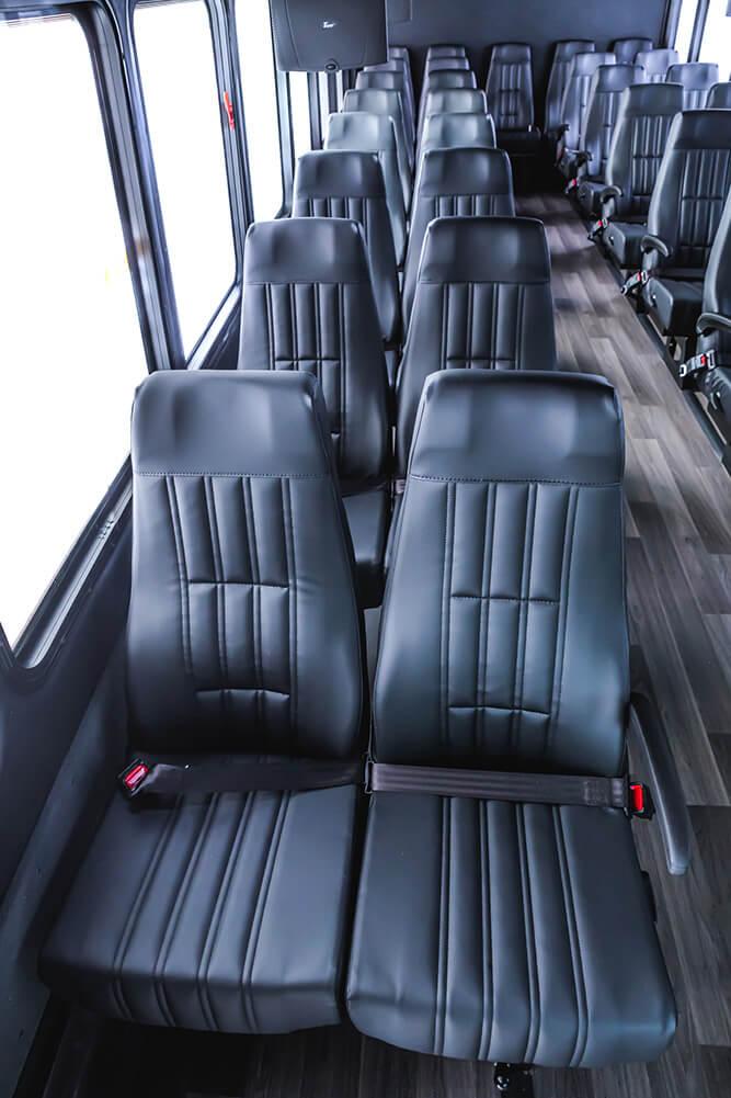 35 seat shuttle bus interior
