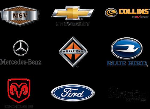 bus part brand logos m