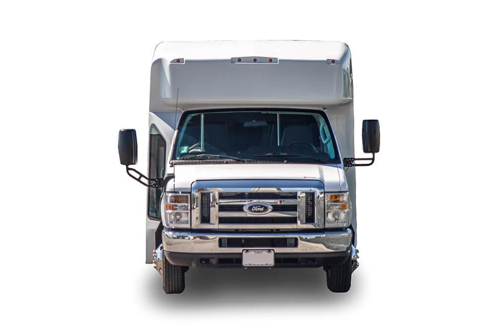 front view 25 passenger minibus