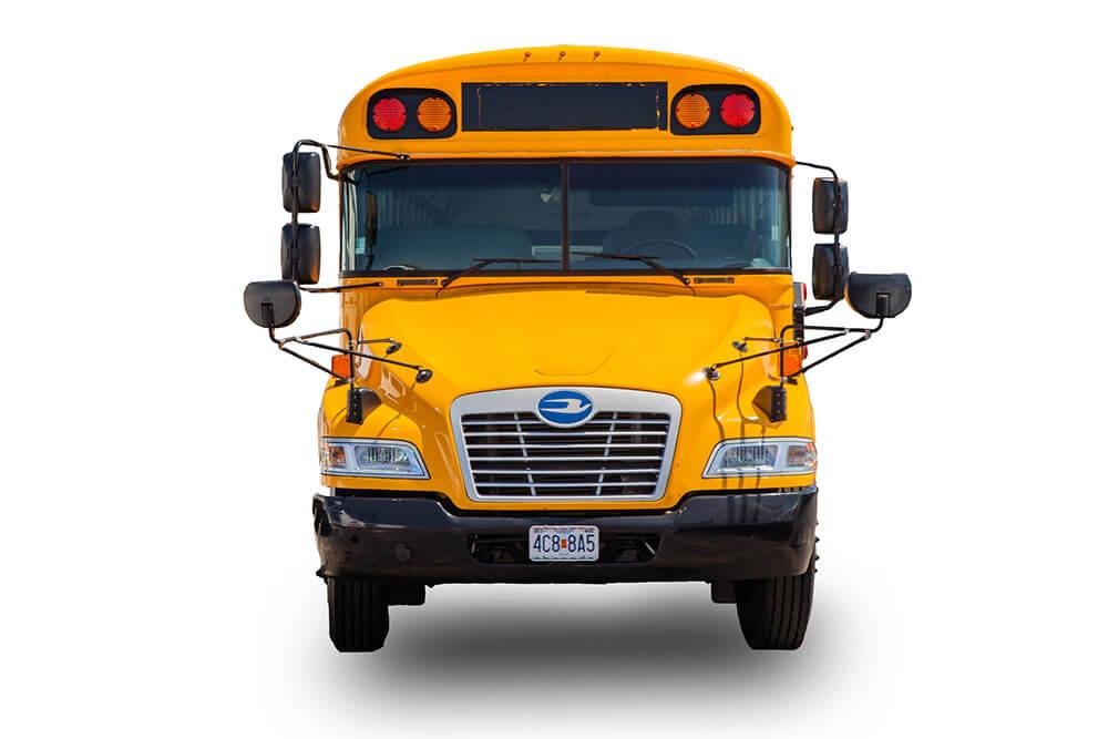 front view school bus