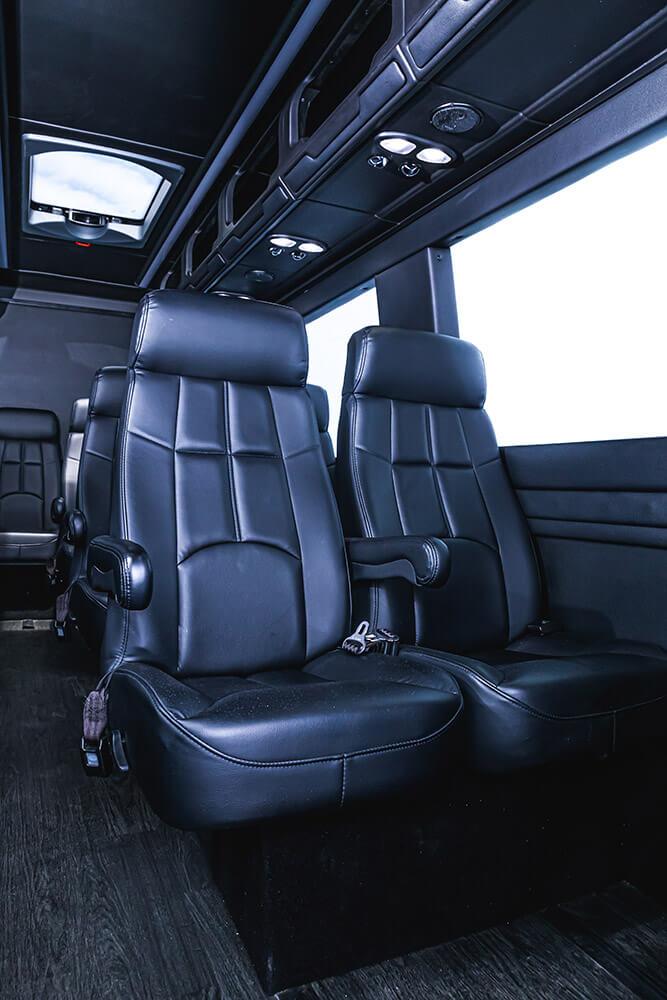 luxury seats inside mercedes sprinter