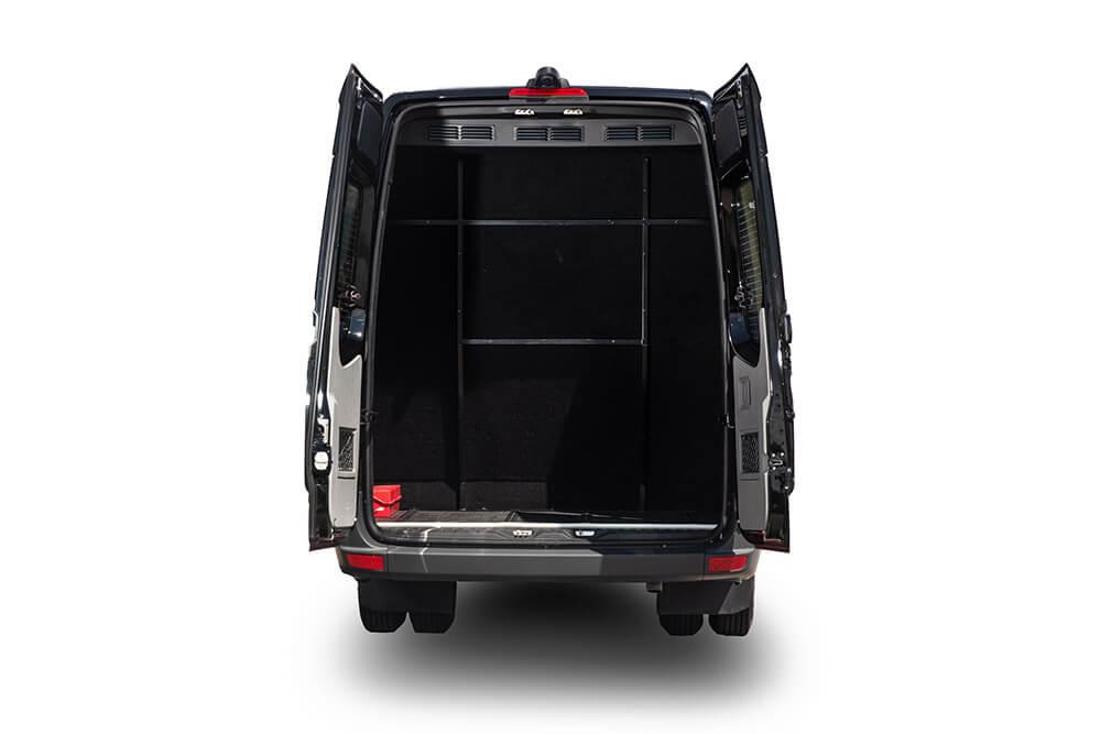 rear cargo space in mercedes benz sprinter van