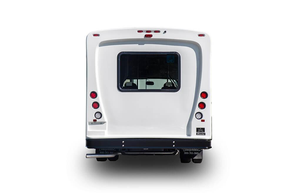 rear view 12 passenger bus rental