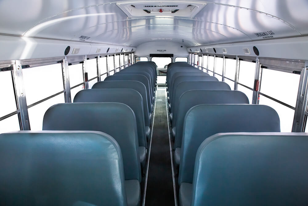 school bus interior seats for 71 passengers