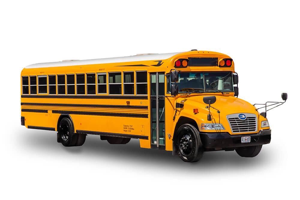 school bus rental exterior