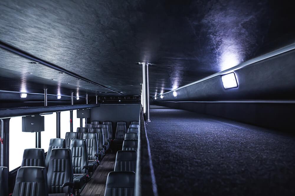 shuttle bus overhead storage for 35 passengers