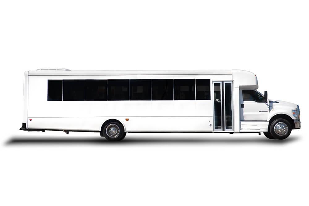 side profile for 35 passenger shuttle bus