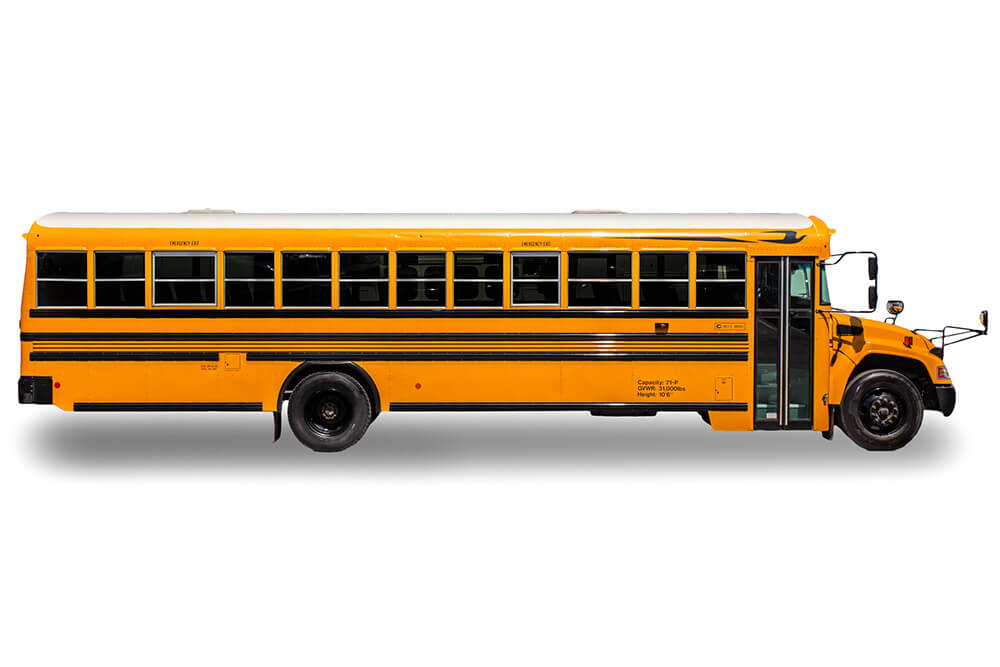 side profile for large school bus