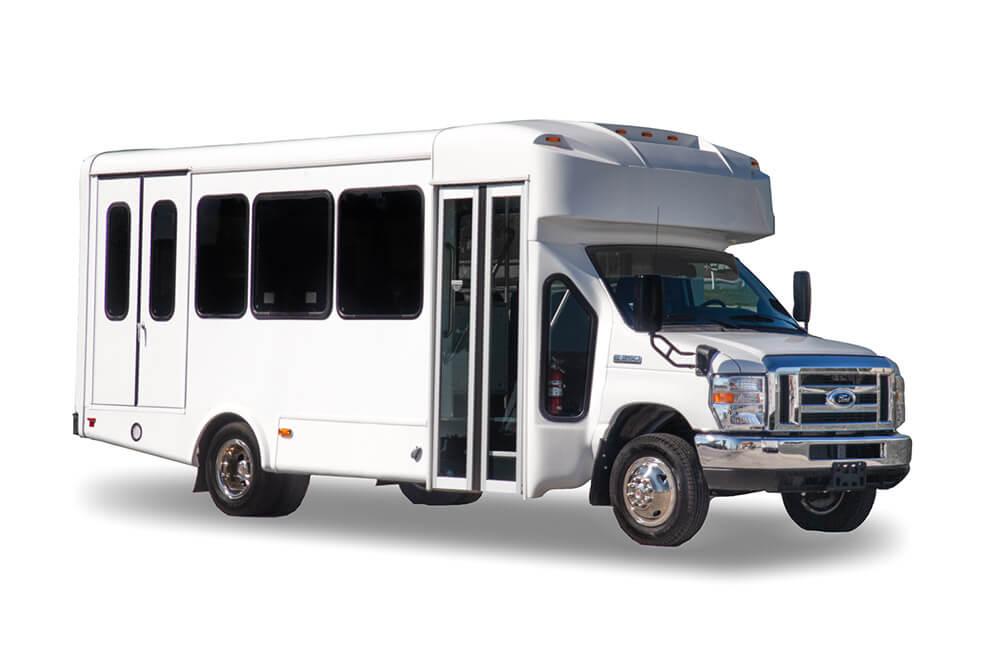small bus rental exterior angle
