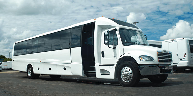 new shuttle bus rental vehicle