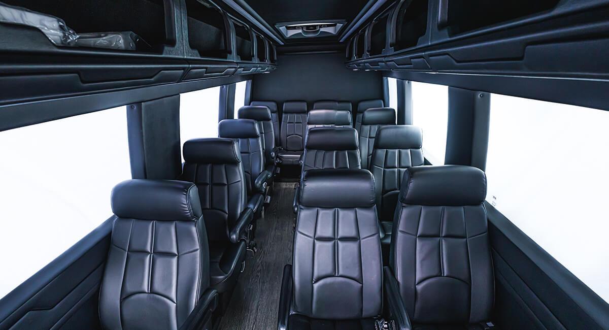 sprinter van interior seats and luggage space